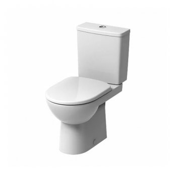 Twyford E100 Premium Round Close Coupled Toilet WC Push Button Cistern - Soft Close Seat & Cover