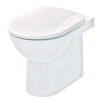 Twyford E100 Round Back to Wall Toilet WC - Soft Close Seat & Cover