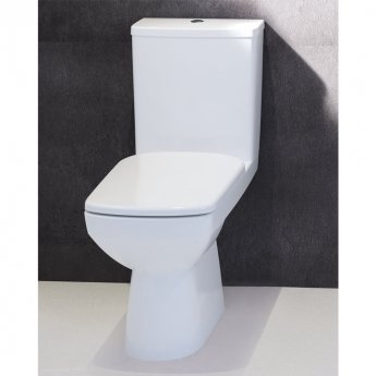 Twyford E100 Close Coupled Toilet WC Bottom Outlet Push Button Cistern - Standard Seat