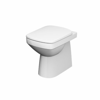 Twyford E100 Square Rimless Back To Wall WC Toilet Pan 355mm Wide