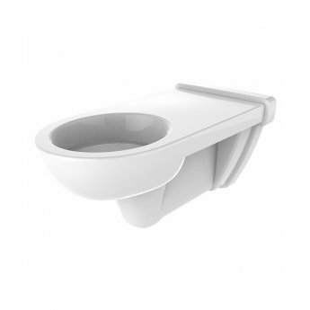Twyford E100 Round Wall Hung Toilet 700mm - Standard Seat & Cover