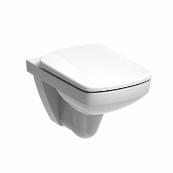 Twyford E100 Square Rimless Wall Hung Toilet 350mm Wide - Excluding Seat