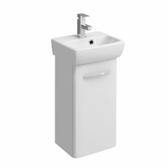 Twyford E100 Wall Hung Vanity Unit with Basin 360mm Wide - White