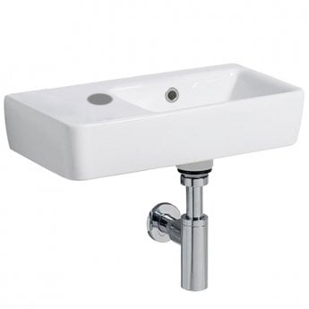 Twyford E200 Washbasin & Right Hand Bowl 500mm Wide 1 Left Hand Tap Hole