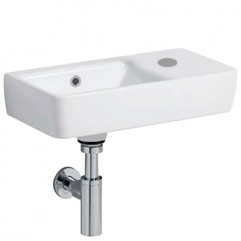 Twyford E200 Washbasin & Left Hand Bowl 500mm Wide 1 Right Hand Tap Hole