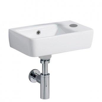 Twyford E200 Handrinse Washbasin 400mm Wide 1 Right Hand Tap Hole