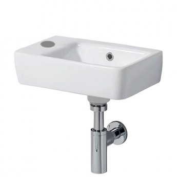 Twyford E200 Handrinse Washbasin 400mm Wide 1 Left Hand Tap Hole