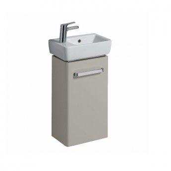 Twyford E200 Left or Right Handed Vanity Unit for Handrinse Basin 600mm x 348mm Grey