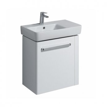 Twyford E200 Vanity Unit for Washbasin with Right Handed Towel Rail 600mm x 590mm - White