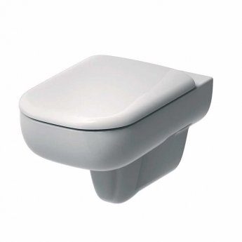 Twyford E500 Round Wall Hung Toilet 350mm Wide - Excluding Seat