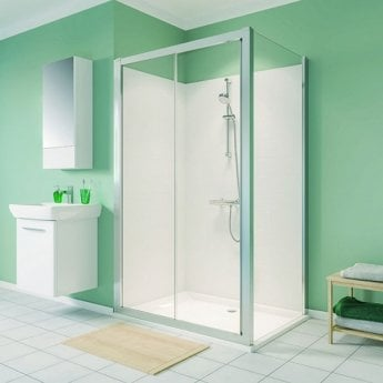 Twyford Geo Sliding Shower Door 1000mm Wide - 6mm Glass