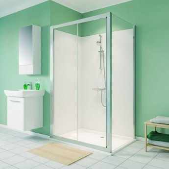 Twyford Geo Sliding Shower Door 1500mm Wide - 6mm Glass