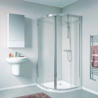 Twyford Geo Quadrant Shower Enclosure 900mm x 900mm - 6mm Glass