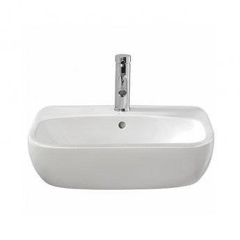 Twyford Moda Semi-Recessed Washbasin 550mm Wide - 1 Tap Hole