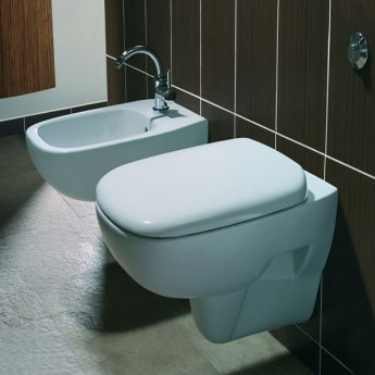 Twyford Moda Wall Hung Bidet 510mm Wide 1 Tap Hole - White