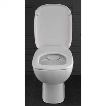 Twyford Moda Rimless Close Coupled Toilet WC Push Button Cistern - Soft Close Seat