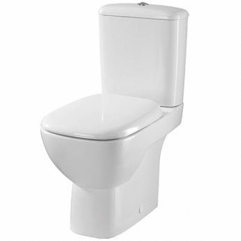 Twyford Moda Close Coupled Toilet WC Push Button Cistern - Soft Close Seat and Cover
