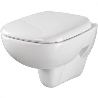 Twyford Moda Wall Hung Toilet WC - Soft Close Seat