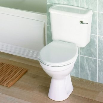 Twyford Option Close Coupled Toilet WC 6ltr Lever Cistern - Standard Seat Plastic Hinge