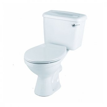 Twyford Option Close Coupled Toilet WC 6ltr Lever Cistern - Standard Seat Stainless Steel Hinge