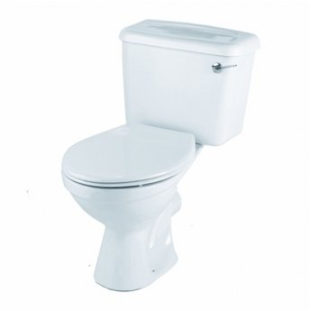 Twyford Option Close Coupled Toilet WC 6/4ltr Lever Cistern - Standard Seat Stainless Steel Hinge