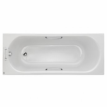 Twyford Opal Rectangular Single Ended Bath with Tread and Grips 1700mm x 700mm - 2 Tap Hole