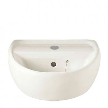 Twyford Sola Handrinse Basin 400mm Wide 1 Tap Hole - White