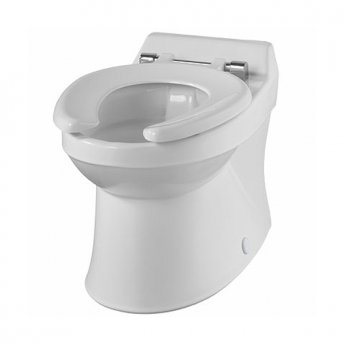 Twyford Sola School Rimless Back-To-Wall Toilet Pan 300mm W - Excluding Seat