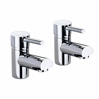 Twyford X60 Basin Pillar Taps Pair - Chrome