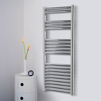 Ultraheat Eco-Rail Straight Heated Towel Rail 801mm H x 500mm W - Chrome