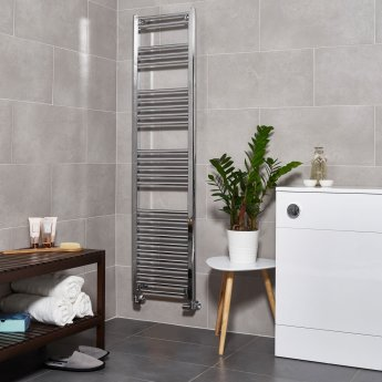 Ultraheat Eco-Rail Straight Heated Towel Rail 1700mm H x 600mm W - Chrome