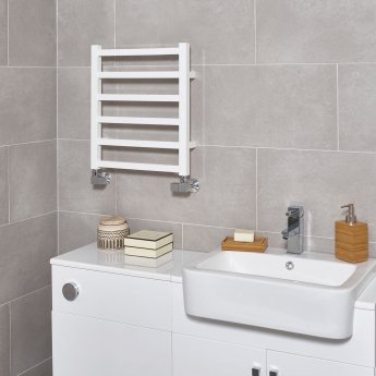 Ultraheat Karnak Straight Heated Towel Rail 1000mm H x 500mm W - White
