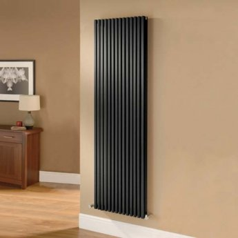 Ultraheat Klon Single Designer Vertical Radiator 1800mm H x 383mm W - Black