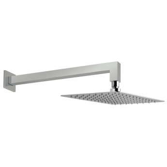 Vado Aquablade Rectangular Slimline Fixed Shower Head with Shower Arm 200mm x 300mm - Chrome