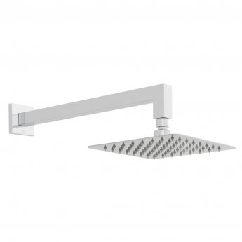 Vado Aquablade Square Slimline Fixed Shower Head with Shower Arm 200mm x 200mm - Chrome