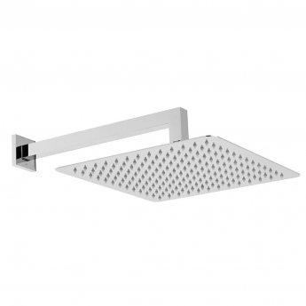 Vado Aquablade Square Slimline Fixed Shower Head with Shower Arm 300mm x 300mm - Chrome