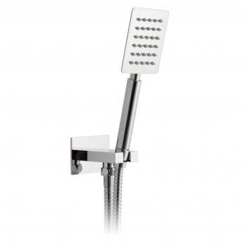 Vado Aquablade Square Single Function Shower Handset with Shower Hose and Bracket - Chrome