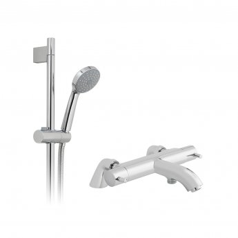 Vado Celsius Thermostatic Bath Shower Mixer Tap with Shower Kit
