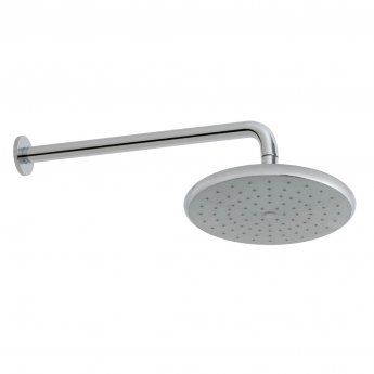 Vado Ceres Self Cleaning Round Fixed Shower Head with Shower Arm 235mm Diameter - Chrome