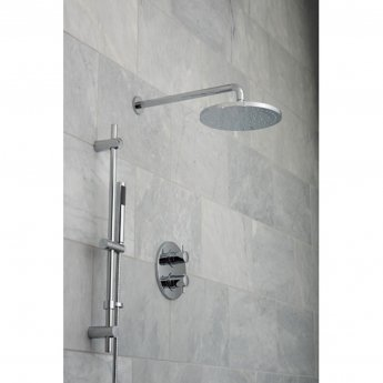 Vado DX Celsius Thermostatic Dual Concealed Mixer Shower with Shower Kit and Shower Wall Outlet + Fixed Head