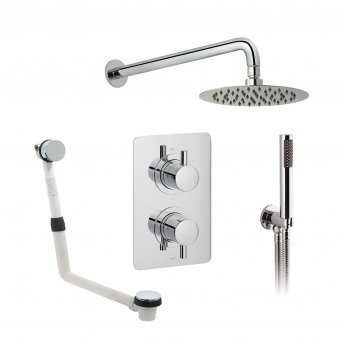 Vado DX Celsius Thermostatic Dual Concealed Mixer Shower with Shower Kit and Bath Filler + Fixed Head