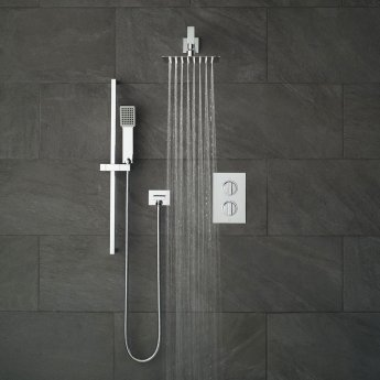 Vado DX Notion Thermostatic Dual Concealed Mixer Shower with Shower Kit and Shower Wall Outlet + Fixed Head