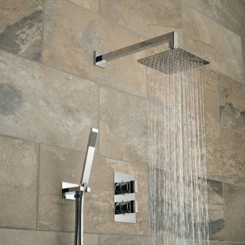 Vado DX Notion Thermostatic Dual Concealed Mixer Shower with Shower Kit + Fixed Head