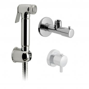 Vado Luxury Douche Spray Kit with Concealed Thermostatic Mixing Valve and Angle Valve - Chrome