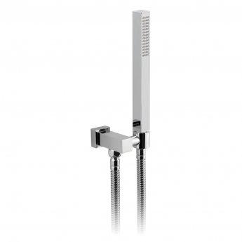 Vado Mix2 Single Function Shower Handset with Shower Hose and Bracket - Chrome