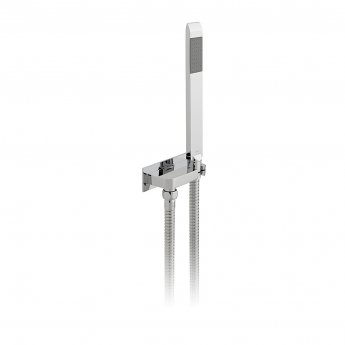 Vado Omika Single Function Shower Handset and Bracket with Integrated Outlet - Chrome