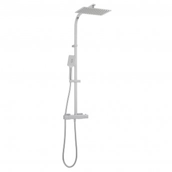 Vado Phase Thermostatic Bar Mixer Shower with Shower Kit + Fixed Head