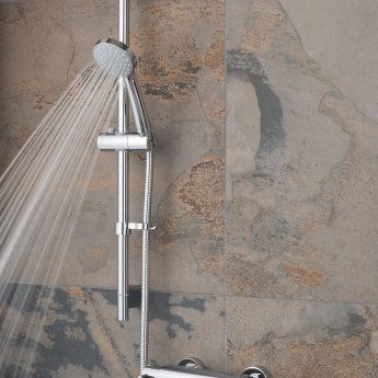 Vado Prima Thermostatic Bar Mixer Shower with Single Function Shower Kit