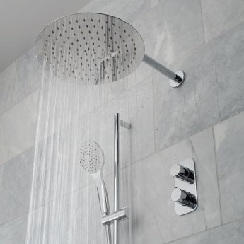 Vado Tablet Altitude Thermostatic Dual Concealed Mixer Shower with Shower Kit and Shower Wall Outlet + Fixed Head