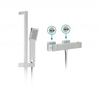 Vado TE Thermostatic Bar Mixer Shower with Shower Kit